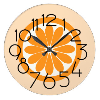 324x324 Orange Slice Wall Clocks Zazzle