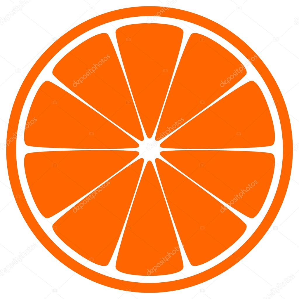 1024x1024 Orange Slice Stock Vector Okeen