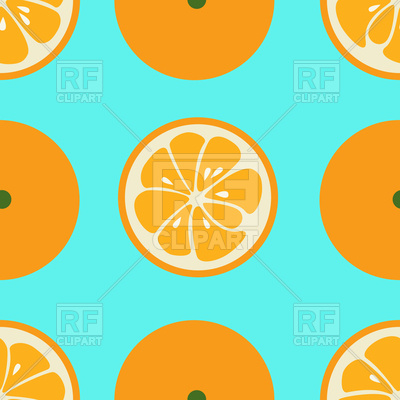 400x400 Cute Seamless Pattern With Orange Slices Royalty Free Vector Clip