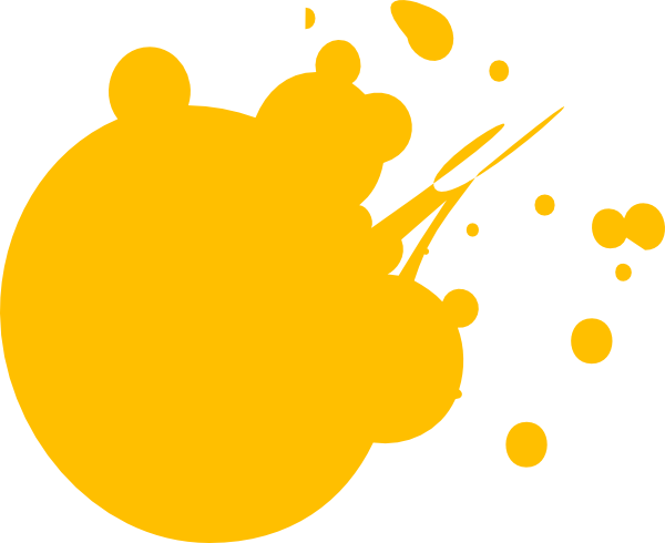 600x490 Orange Dot Splat Clip Art