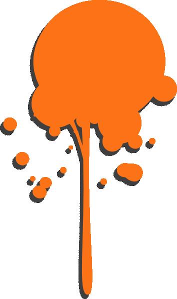 354x598 Orange Paint Drip Clip Art
