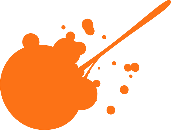 600x457 Orange Paint Splatter Clip Art