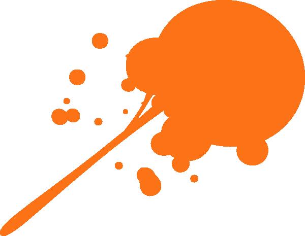 600x465 Orange Paint Sploge Clip Art