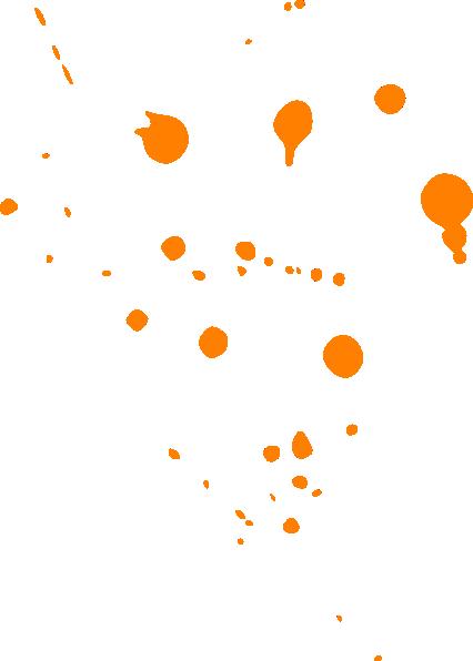426x596 Paint Splat Orange Clip Art