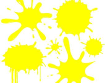 340x270 Yellow Clipart Splat