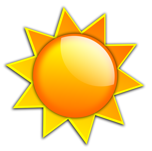 Orange Sun Clipart