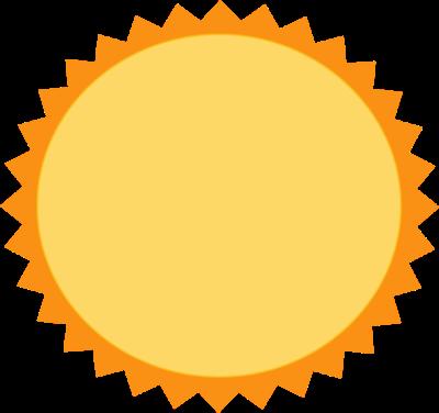 400x376 Hot Sun Clip Art