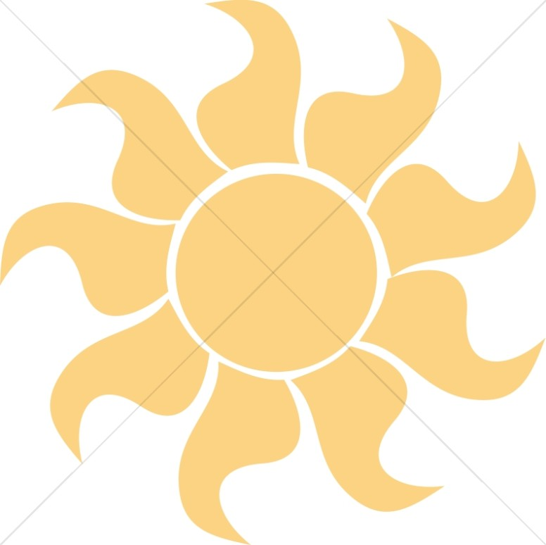 776x774 Orange Stylized Sun Sun Clipart