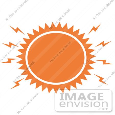 450x450 Royalty Free Cartoon Clip Art Of A Blazing Hot Orange Sun