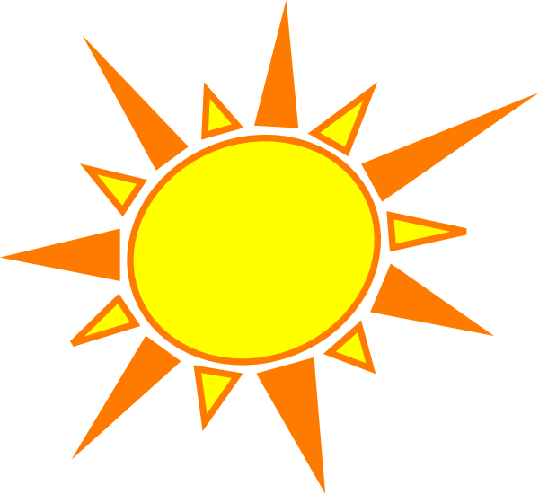 600x550 Yellow And Orange Sun Clip Art