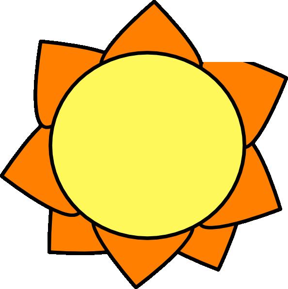 594x597 Yellow Orange Sun Clip Art