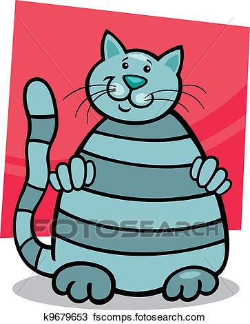 363x470 Clipart Of Grey Tabby Cat K9679653