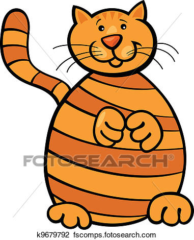 381x470 Clipart Of Yellow Tabby Cat K9679792