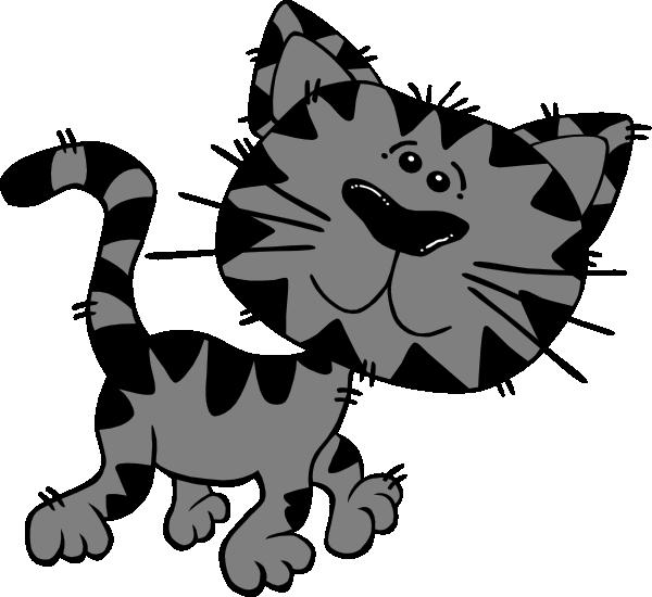 600x550 Grey Tabby Clip Art