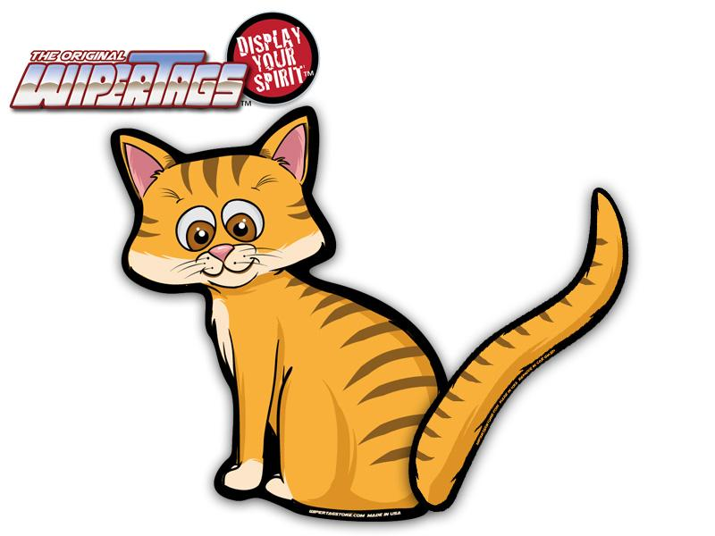 800x600 Orange Tabby Cat Wagging Waving Tail Wipertags For Rear Wiper Blades