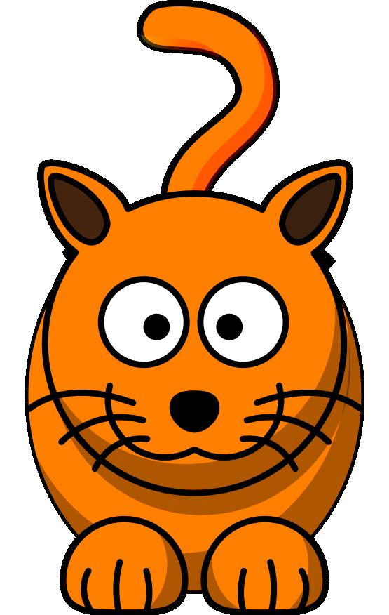 555x876 Tabby Cat Clipart Orange Cat
