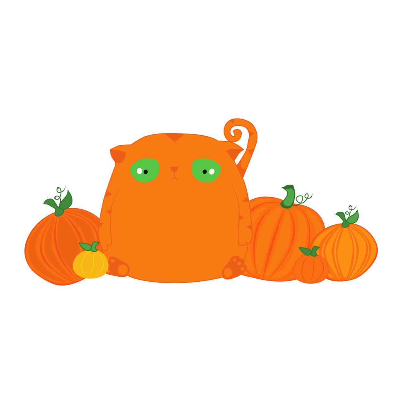1312x1314 Best Pumpkin Clipart, Halloween Cat Clipart, Orange Tabby Cat