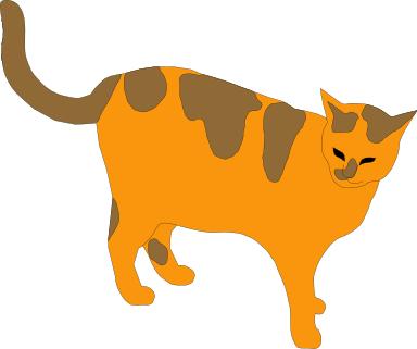 384x321 Cat Clipart Tabby