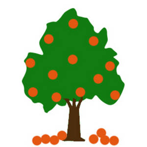300x300 Clipart Picture Of An Orange Tree