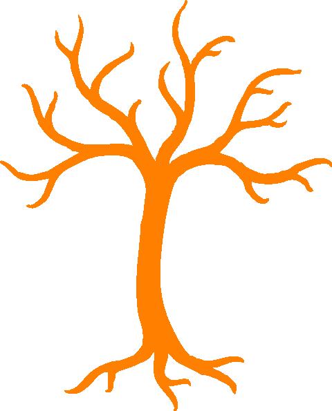480x595 Orange Dead Tree Clip Art