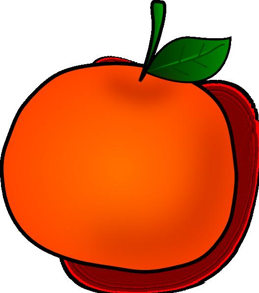 528x598 Orange Fruit Clipart