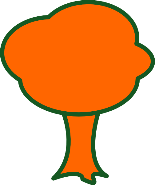 504x600 Orange Tree Clip Art