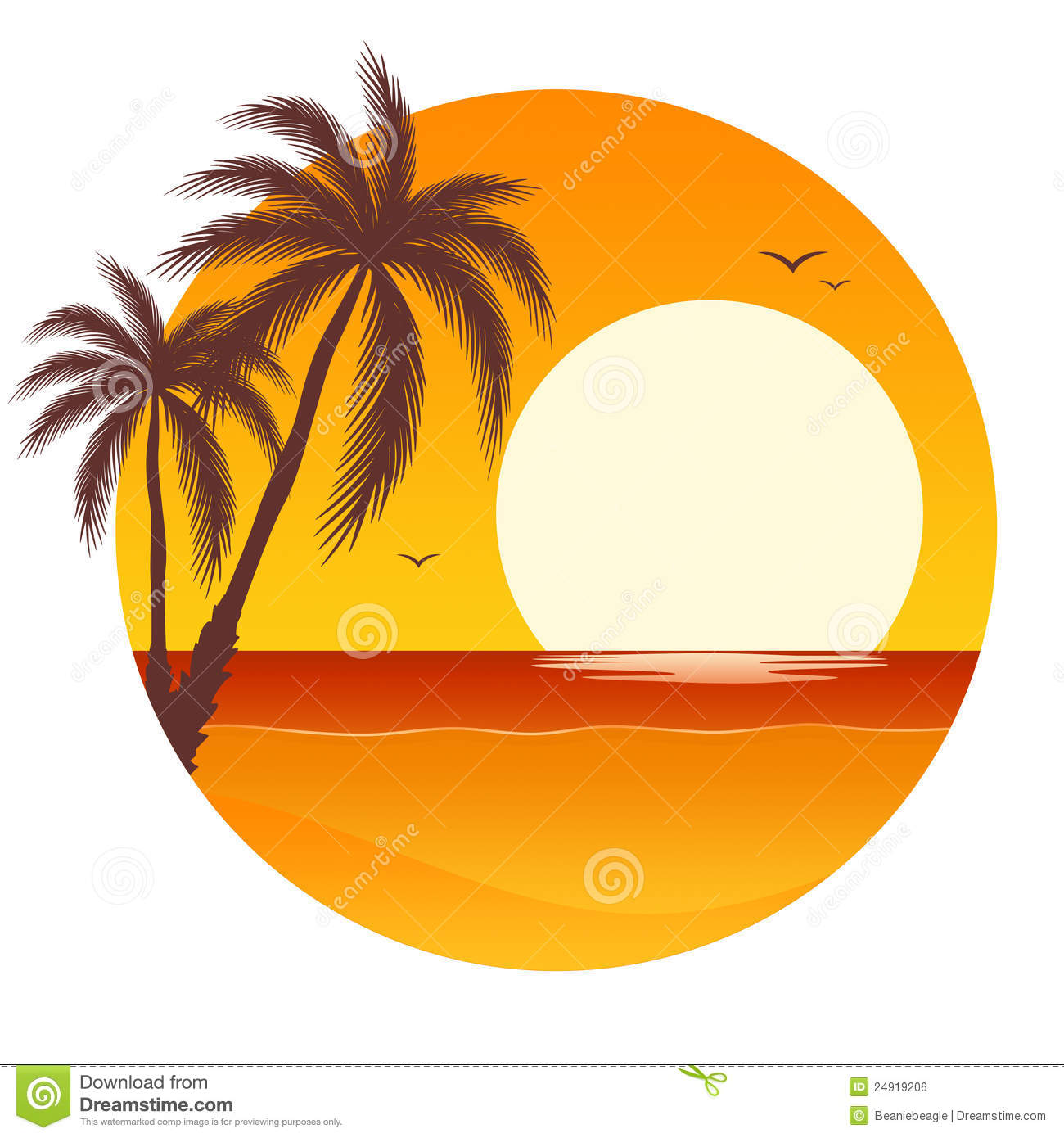 1300x1390 Orange Clipart Palm Tree