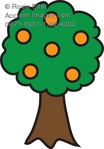209x300 Art Illustration Of An Orange Tree
