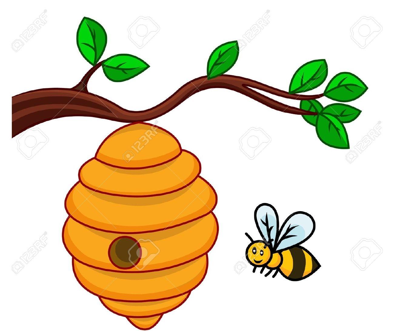1300x1094 Bee Hive Clipart Tree Clip Art