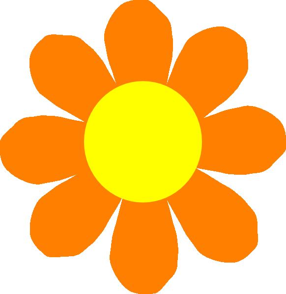 582x599 Free Orange Flower Clip Art