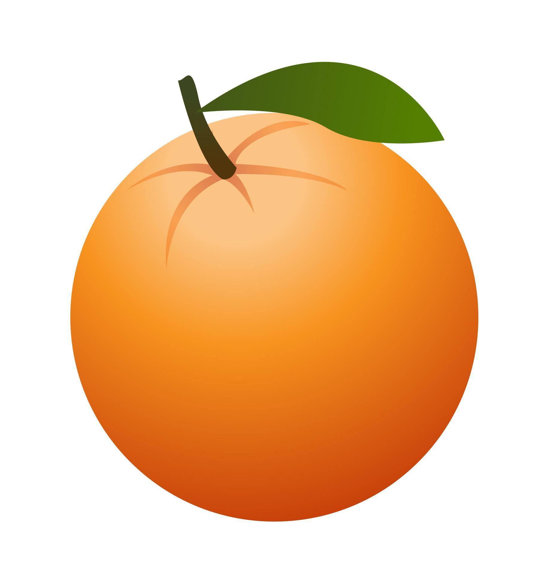1824x1951 Hd Art Orange Clipart Best Fruit Drawing