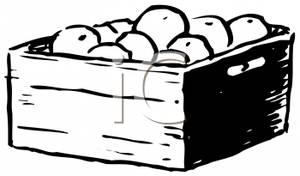300x176 Art Image Black And White Crate Of Oranges