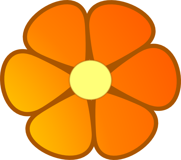 600x531 Orange Flower Clipart Orange Blossom