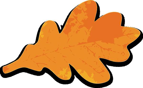 600x367 Orange Leaf Clip Art