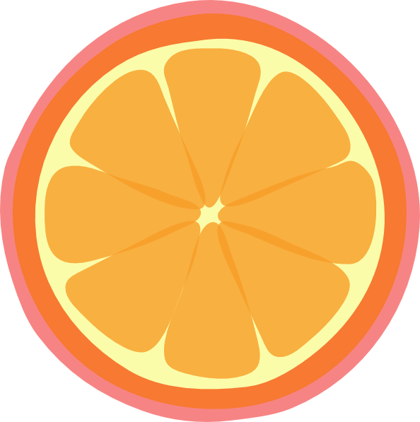 594x597 Orange Slice Clip Art