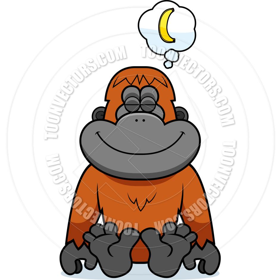 940x940 Cartoon Orangutan Dreaming By Cory Thoman Toon Vectors Eps