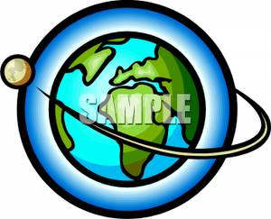 300x243 Clip Art Earth And Moon From Space Cliparts