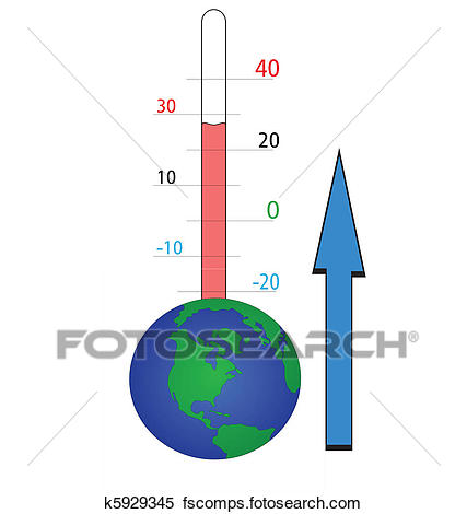 427x470 Clipart Of Global Temperature K5929345