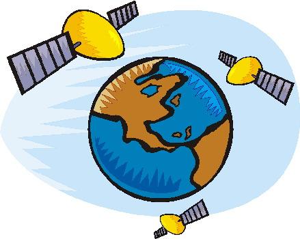 439x350 Satellite In Orbit Clip Art Cliparts