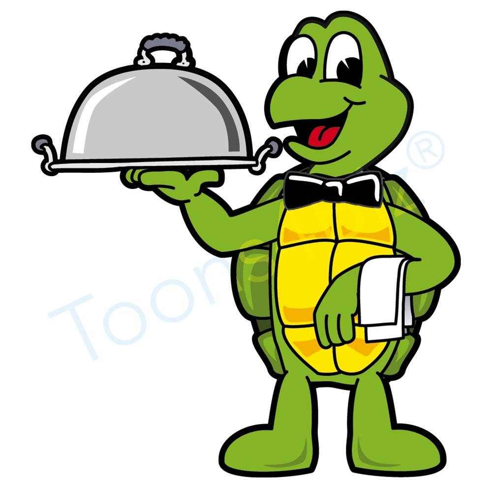 1000x1000 Turtle Mascot Serving Food Clip Art Food Clip Art