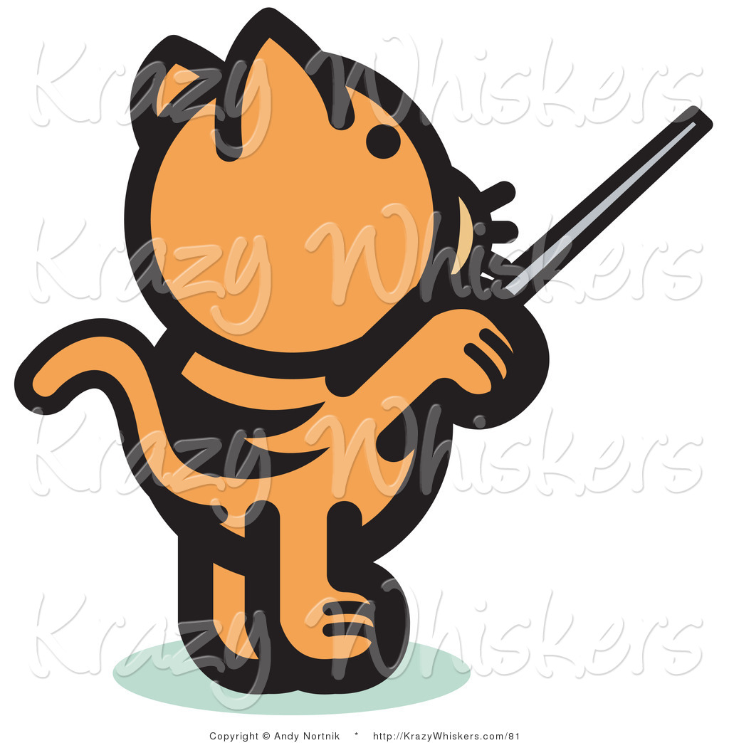 1024x1044 Critter Clipart Of A Ginger Cat Standing On His Hind Legs