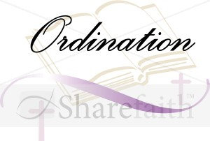 300x202 Bible With Crosses Reads Ordination Church Word Art