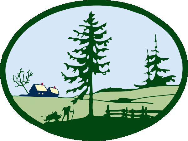 600x452 Country Scene Clip Art