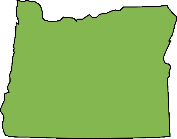 600x471 Oregon State Green Clip Art