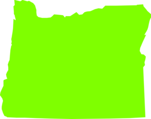 298x234 Oregon State Lime Green Clip Art