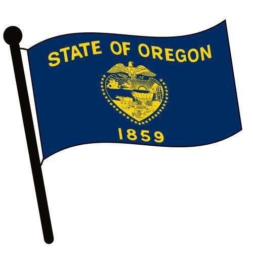 500x500 Oregon Waving Flag Clip Art
