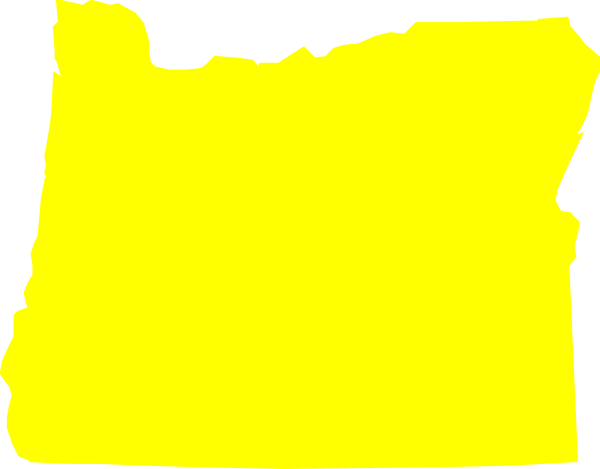 600x469 Yellow Oregon Clip Art