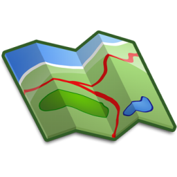 256x256 Map Clipart Trail Map