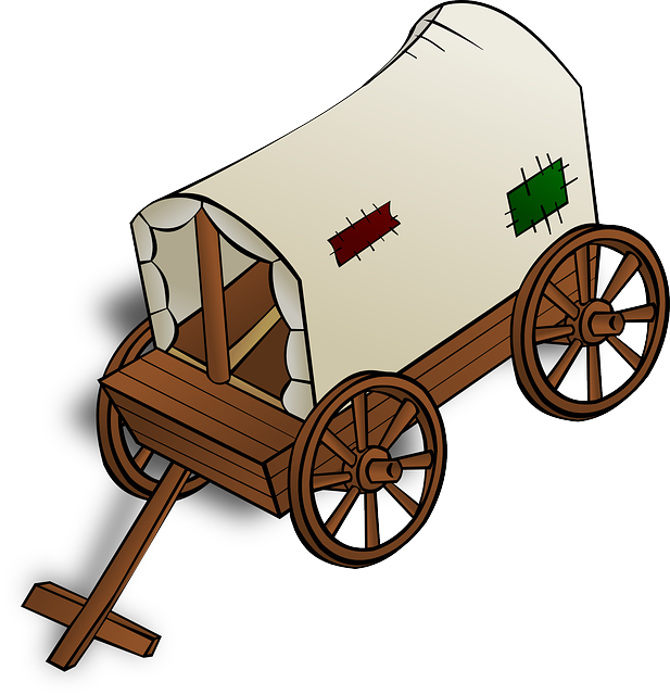 617x640 Oregon Trail Wagon Clipart