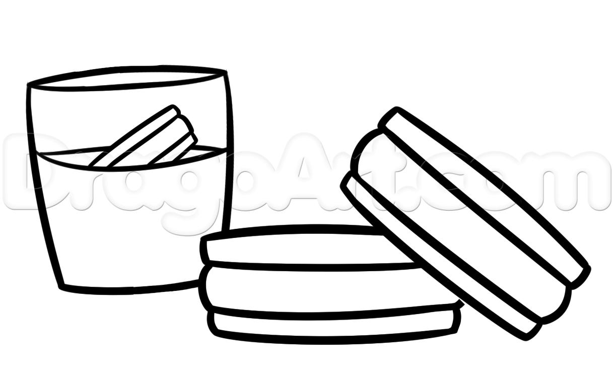 1219x730 Oreo Clipart Drawing